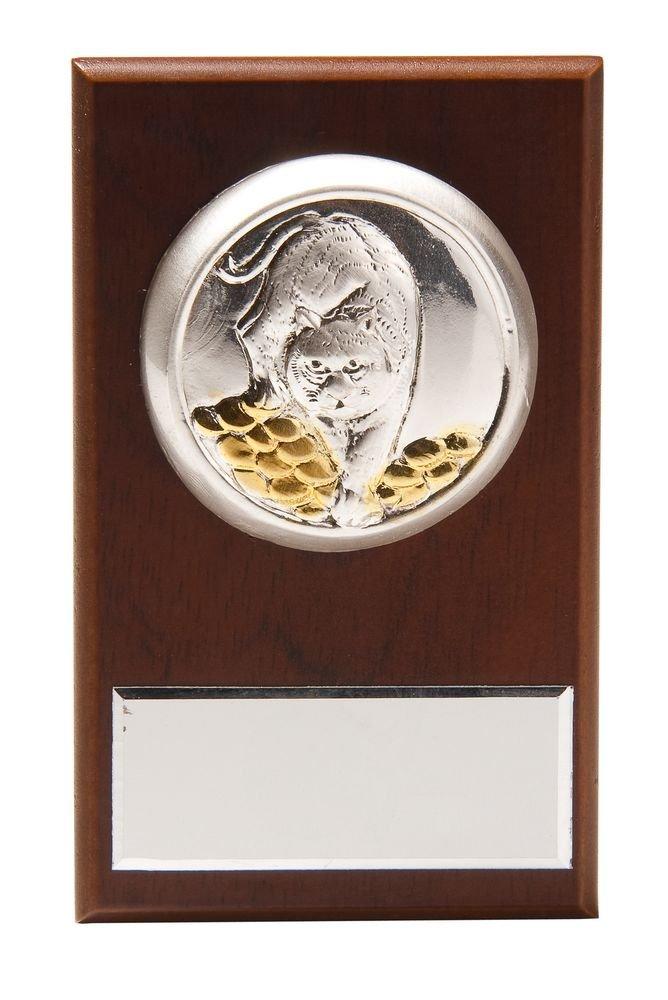 Плакетка малая «Тигр на монетах» с возможностью персонализации_0